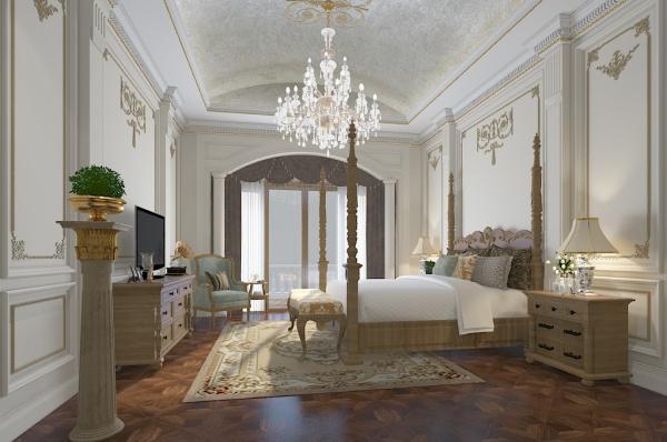 European style bedroom model free 3ds max model