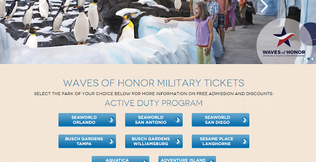 Waves of honor for Busch gardens free military tickets