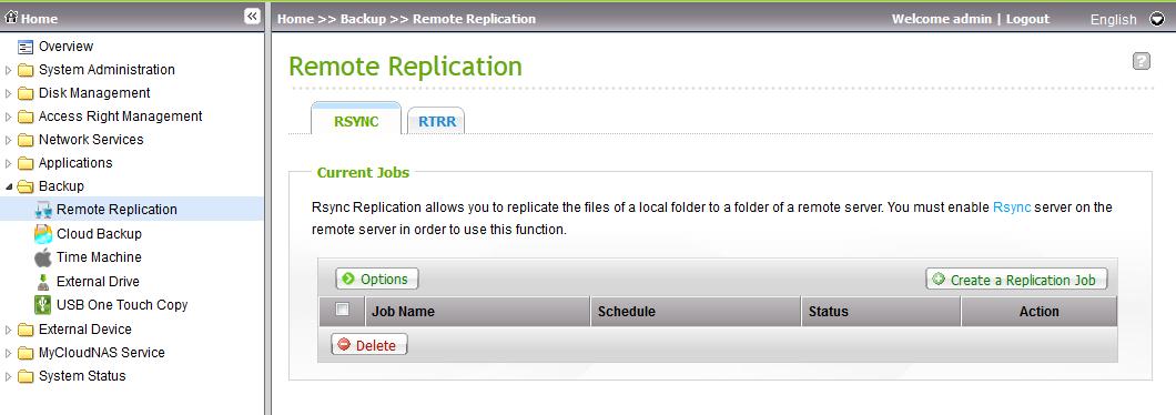Replicación remota RSYNC storage QNAP