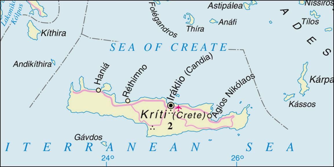 Kaart Griekenland Vakantie Kaart Kreta Vakantie Griekenland