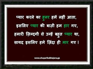 Bewafa shayari_ pyaar karne ka hunar hume nahi aata
