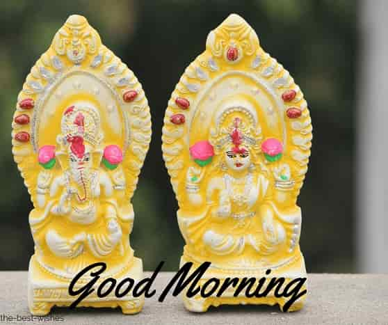 good morning with ganesha lakshmi god goddess idols images