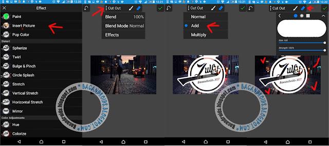 Tutorial PicSay Membuat Desain Logo Nama Transparan Keren di Android