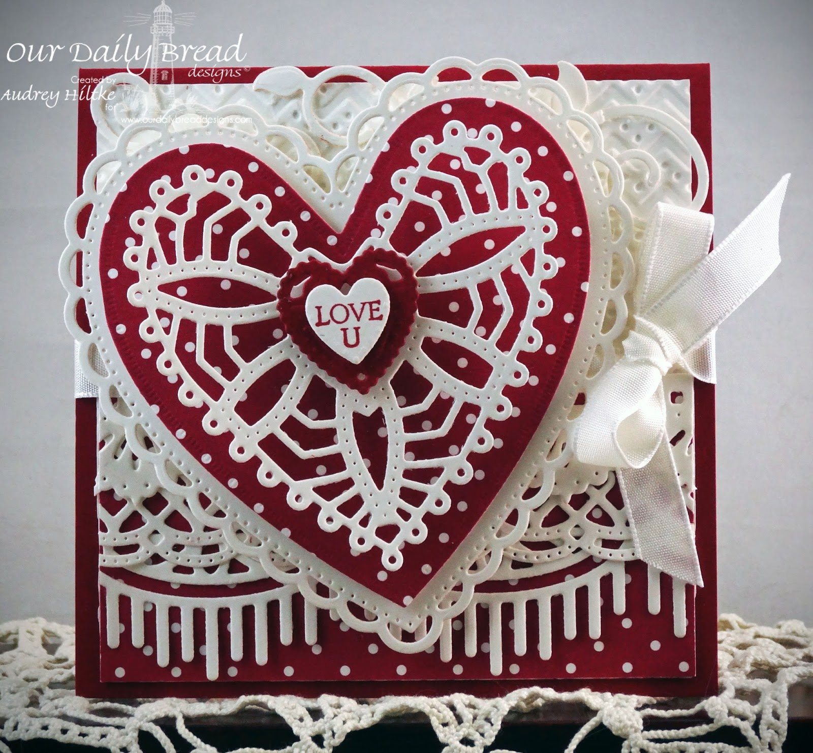 Stamps - Our Daily Bread Designs Be Mine, ODBD Custom Ornate Hearts Die, ODBD Custom Fancy Foliage Dies, ODBD Custom Beautiful Borders Dies