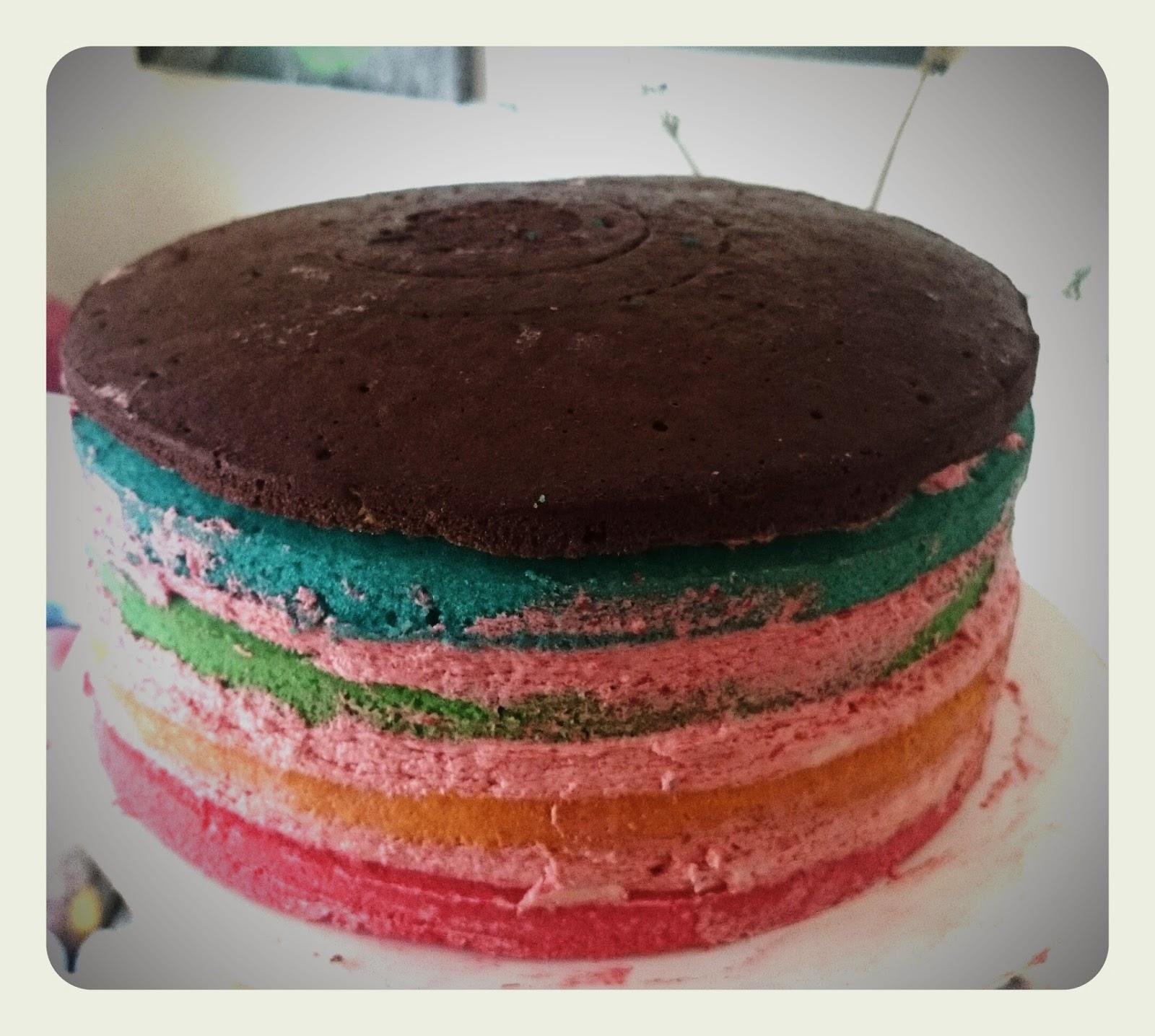 regenbogentorte backen regenbogenkuchen rezept mit. Black Bedroom Furniture Sets. Home Design Ideas