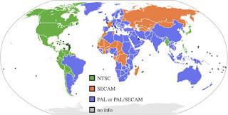 PAL NTSC Map - NTSC Countries - PAL Countries