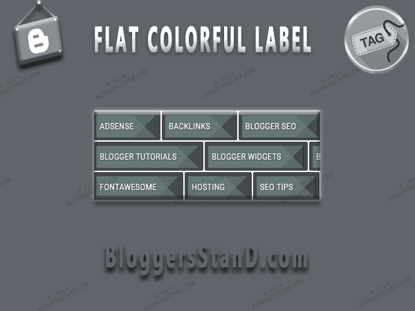 install add stylish beautiful custom label widget in blogger template