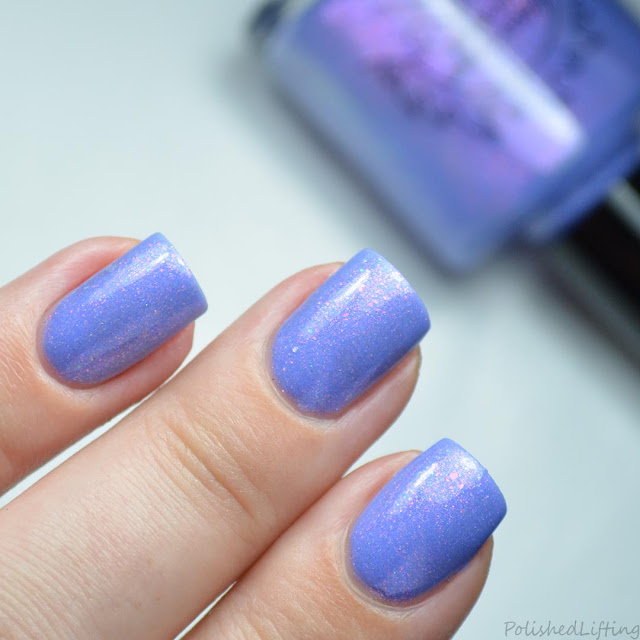 lilac nail polish with shimmer