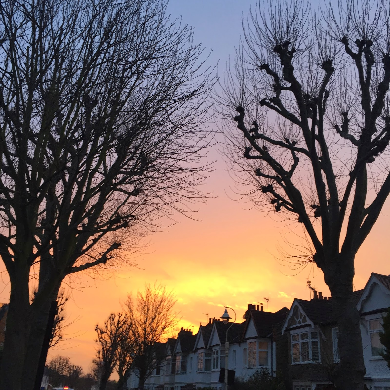 Sunset over Ealing