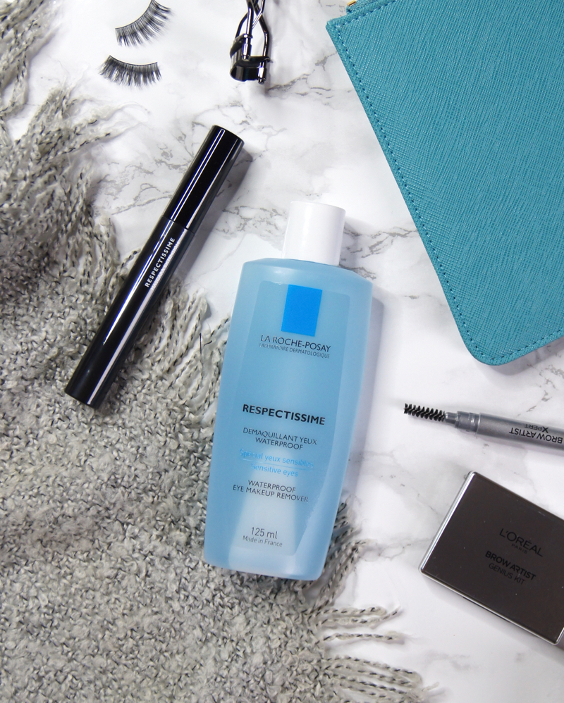 la roche-posay respectissime extension length curl mascara waterproof eye makeup remover review perfect sensitive eyes