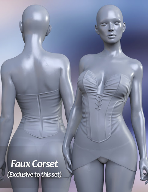 FWSA Teagan HD for Victoria 7 and LF Faux Corset