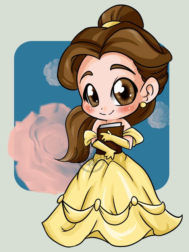 princess belle chibi công chúa người đẹp và quái vật 8