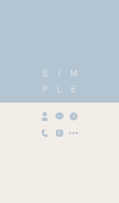 SIMPLE / beige-blue.