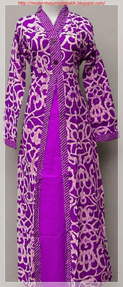 model baju batik wanita muslim untuk kerja busana muslim