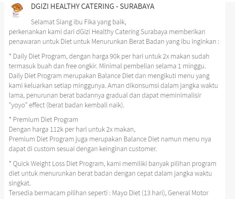 Mencari Catering Diet Mayo di Surabaya dengan Sejasa ...
