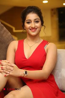Actress Mouryani Stills in Red Dress at Intlo Deyyam Nakem Bhayam Trailer Launch  0199