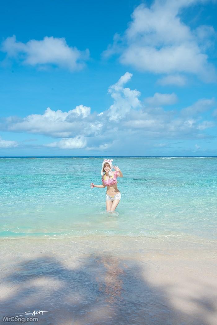 Image Ryu-Ji-Hye-Hot-Thang-4-2017-MrCong.com-013 in post Người đẹp Ryu Ji Hye nóng bỏng khoe dáng cùng trang phục tắm biển 4/2017 (35 ảnh)
