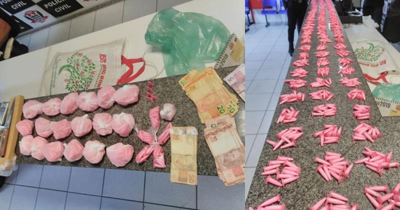 GCM prende traficantes e apreende mais de 2.000 pinos de cocaína em Mogi Guaçu
