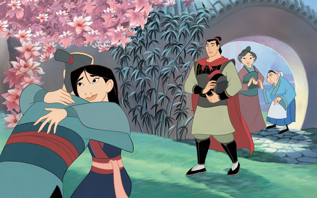 a summary of the story about the adventures of a young woman in ancient china named mulan The original story only named her as mu lan (木兰), with no last name but the story goes the same: mulan's elderly father was drafted back to the war, mulan joined the army disguised as a man she'd fought bravely in the war, and was rewarded by the emperor.