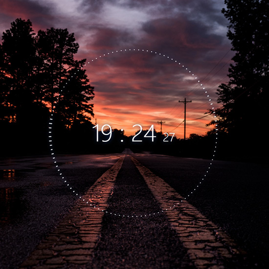 Road (Audio Vizualiser & Digital Clock) Wallpaper Engine
