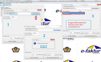 Cara menambah database e-faktur