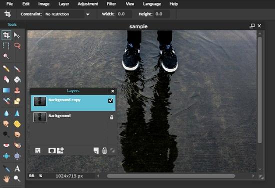 edit foto online Membuat Foto Manipulasi Refleksi atau Bayangan