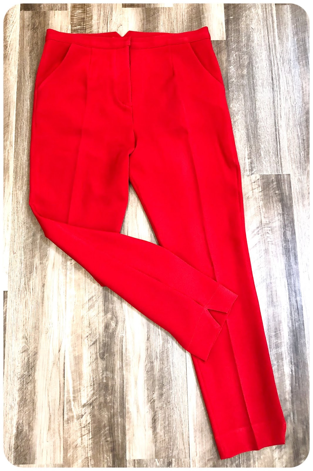 Red Power Suit: Pants - Simplicity 8749 -- Erica Bunker DIY Style!