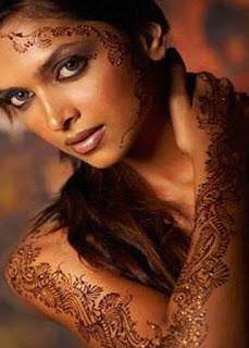 Deepika Padukone Tattooed Hand And Face