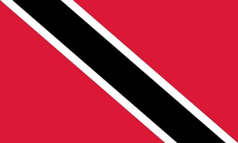 Logo Gambar Bendera Negara Trinidad dan Tobago PNG JPG ukuran 800 px
