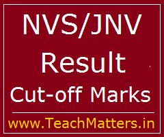 image : Navodaya Vidyalaya Samiti TGT PGT Principal Result 2019 Cut-off Marks @ TeachMatters