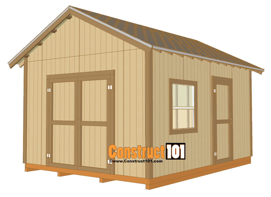 How to Build a Storage Shed: Shed Plans 12x16 Gable Roof Shed