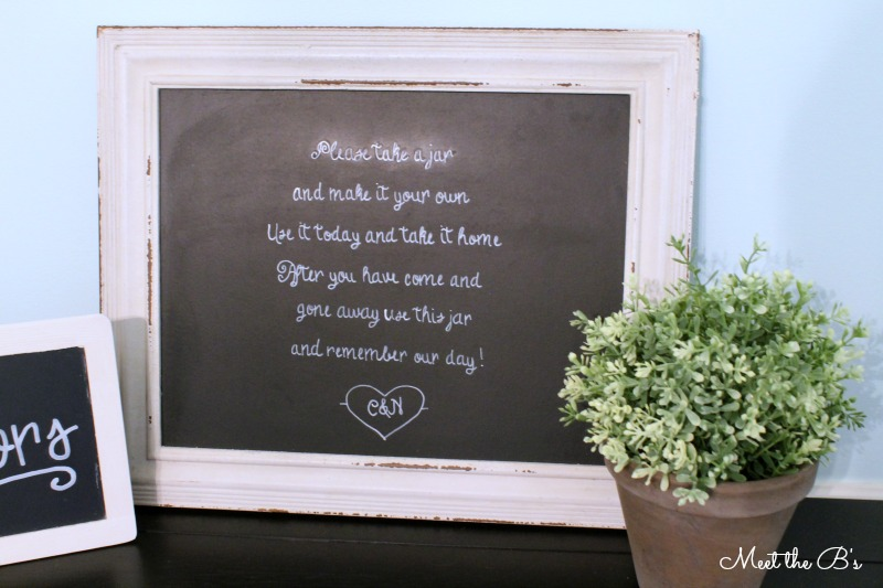 DIY Chalkboard Wedding Crafts