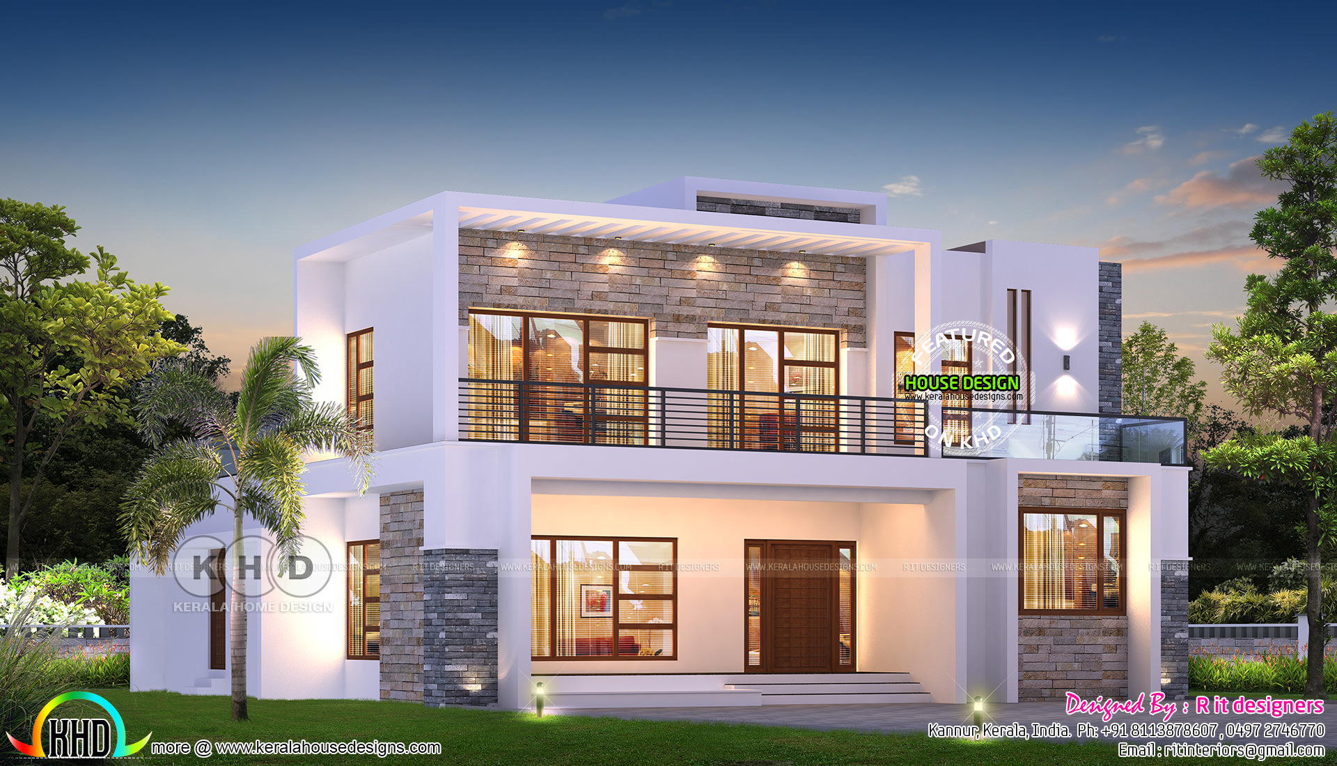 Flat Roof Contemporary Bhk Home 5 Bhk Modern Flat Roof