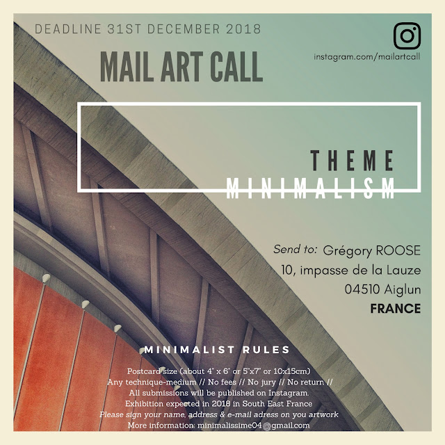 mail art call - art postal 2018
