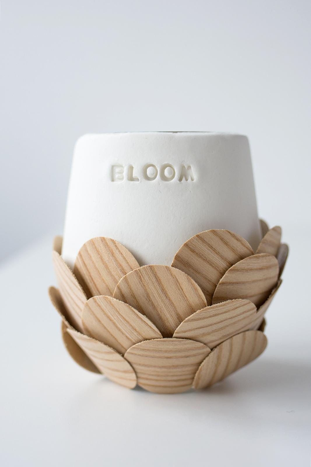 rundvase mit holzfurnier gewinner der k hltaschen sinnenrausch der kreative diy blog f r. Black Bedroom Furniture Sets. Home Design Ideas