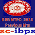 RRB NTPC - 2016 ::  Previous Papers Bits Set - 1