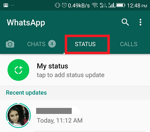 Download WhatsApp's status on Android