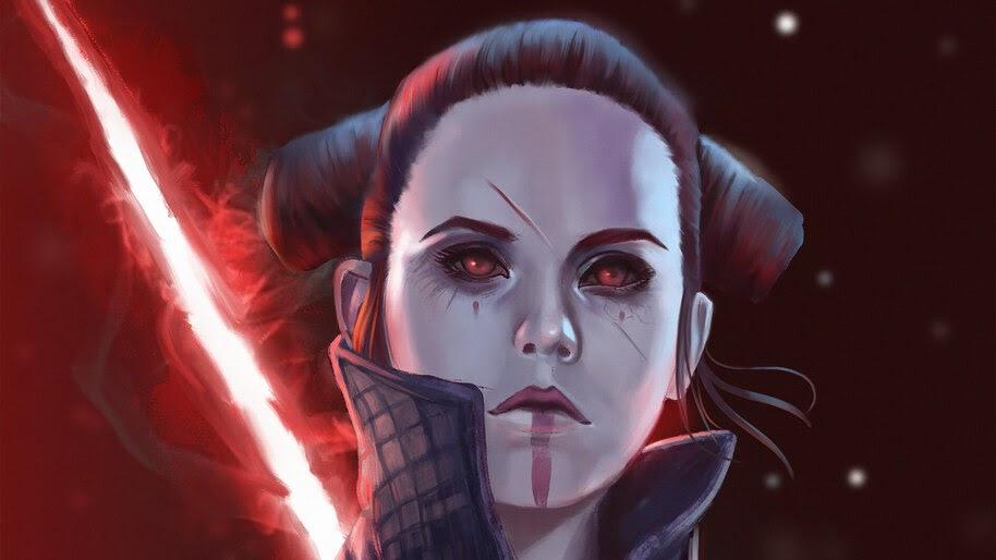 Star Wars The Rise Of Skywalker Rey Dark Side 4k Wallpaper 7 567