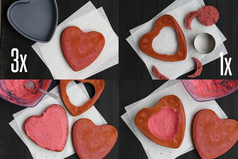 Blutendes Herz als Kuchen