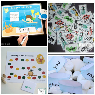 kindergarten seasonal sight words
