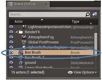 Box brush in scene outliner.