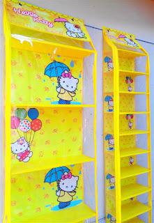 Rak Tas Rak Sepatu Hello Kitty Kuning