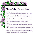 Happy Mothers day Poems,Wishes and quotes 2016: Happy mothers day acrostic poem 2016