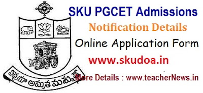 SKU PGCET 2017 Admission Notification SK University PG Courses online apply