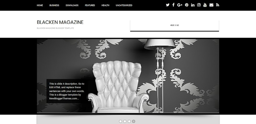 Blacken Magazine Free Blogger Template
