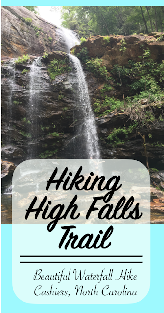 Beautiful waterfall hike near Cashiers, North Carolina
