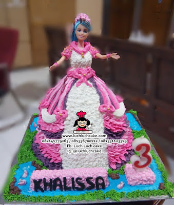 Buttercream Barbie Cake Cantik