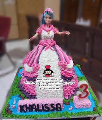 Buttercream Barbie Cake Cantik