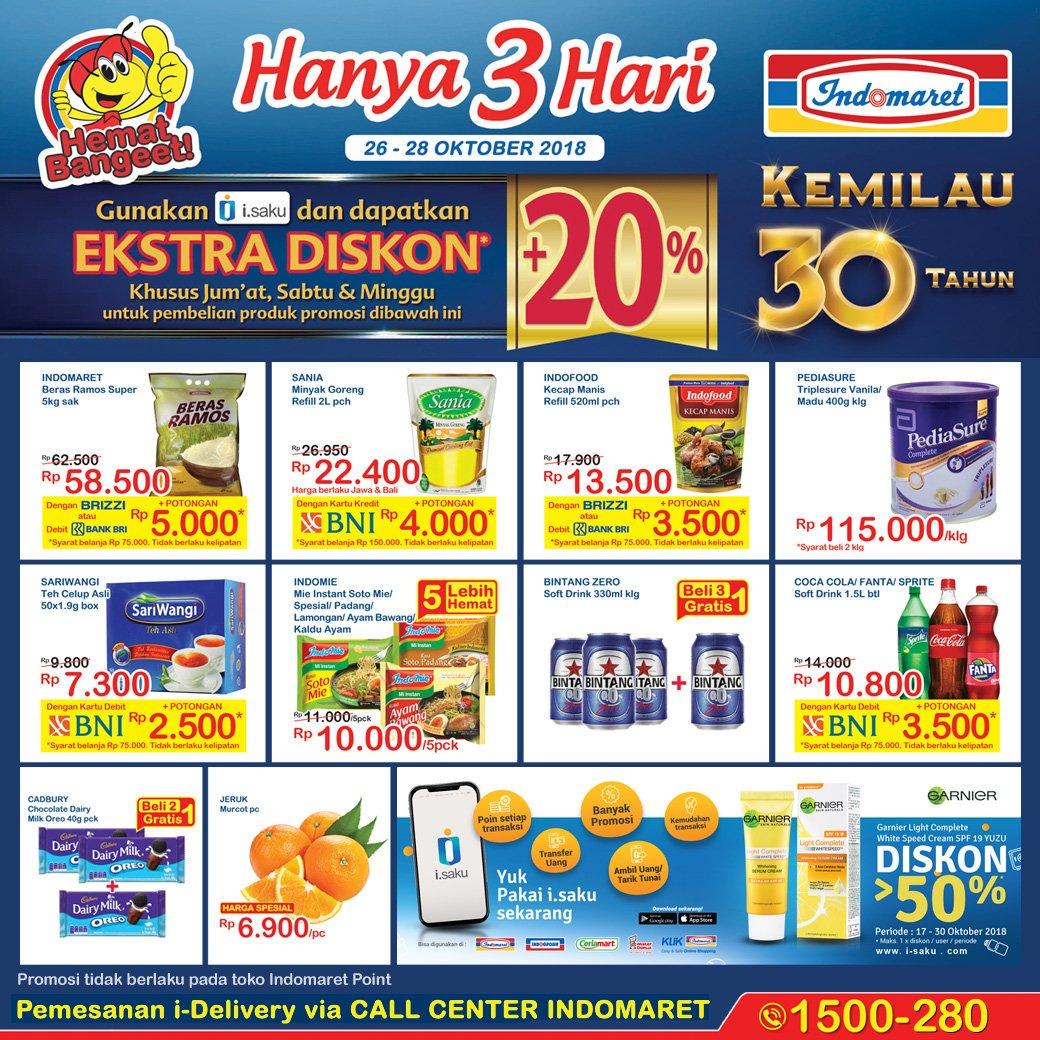 Indomaret - Promo Katalog JSM Periode 26 - 28 Okt 2018
