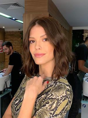 Vitoria Strada mostra o novo visual — Foto: Victor Hugo Camara/Gshow